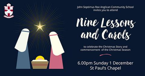 Nine Lessons and Carols 1 December 6.00pm
