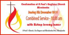 8 December Confirmation and Combined service 10.00am